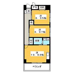 LOTUS MARAH 元今泉[5階]の間取り