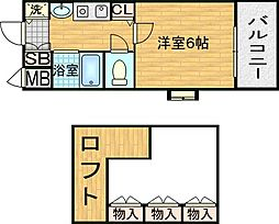 エステムコート梅田茶屋町デュアルスペース[5階]の間取り