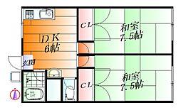 日幸山田西ハイツ[2階]の間取り
