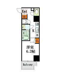 フォーチュン心斎橋イースト[4階]の間取り