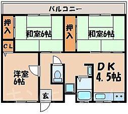 広島県呉市焼山宮ヶ迫2丁目の賃貸マンションの間取り