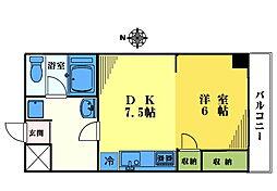 柳井新宿レジデンス[202号室]の間取り