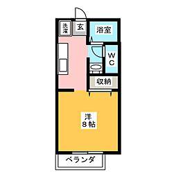 サンパークCERA B棟[2階]の間取り