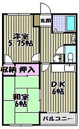 滝本ビル[2階]の間取り