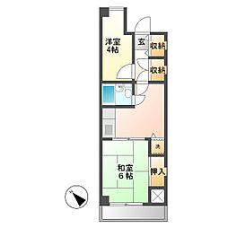 武蔵野第2パークマンション[2階]の間取り