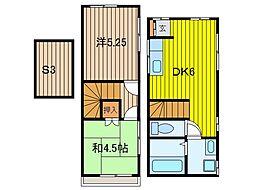[一戸建] 埼玉県さいたま市中央区新中里2丁目 の賃貸【/】の間取り