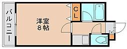 サンシティ箱崎九大前[5階]の間取り