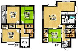 [一戸建] 奈良県奈良市あやめ池北3丁目 の賃貸【/】の間取り