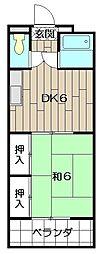 J−フィールド[5階]の間取り