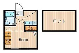 ハーミットクラブハウス峰岡A[1階]の間取り
