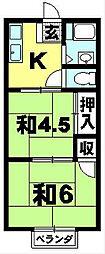 フジハイツ[203号室]の間取り