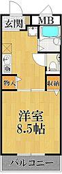 エポック甲子園口[3階]の間取り