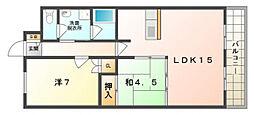大阪府守口市金田町2丁目の賃貸マンションの間取り