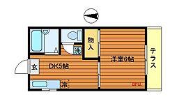 東京都武蔵野市吉祥寺北町2丁目の賃貸マンションの間取り