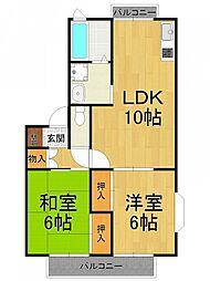 ルポゼ武庫之荘2[2階]の間取り