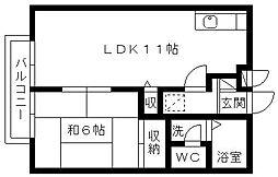 セゾン内野台[2階]の間取り