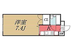 千葉県成田市郷部の賃貸アパートの間取り