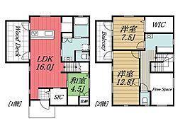 [一戸建] 千葉県印西市西の原2丁目 の賃貸【/】の間取り
