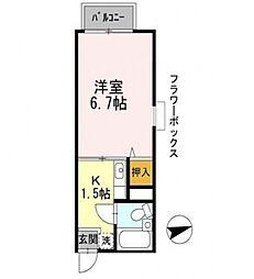 Comfort恵(コンフォート恵)[210号室号室]の間取り
