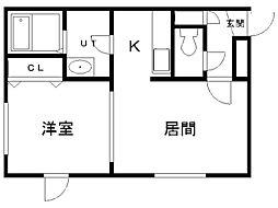 北海道札幌市中央区北5条西21丁目の賃貸マンションの間取り