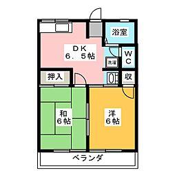 エンゼルハイムアオキ[2階]の間取り