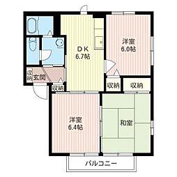 羽黒台 ハイツ[2階]の間取り