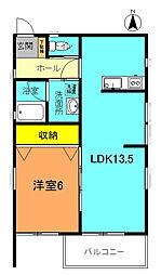 LOHAS銀河D[D2号室]の間取り