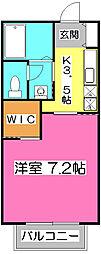 埼玉県所沢市緑町4丁目の賃貸アパートの間取り