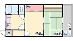 曽根パールマンション[301号室]の間取り