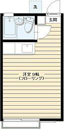 梅村ハイツ[1階]の間取り