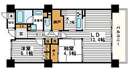 エル・セレーノ上本町レジデンス[7階]の間取り