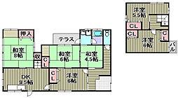 [テラスハウス] 大阪府泉佐野市高松南1丁目 の賃貸【/】の間取り
