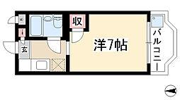 愛知県名古屋市名東区豊が丘の賃貸マンションの間取り