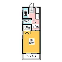 コーポ辰巳[1階]の間取り