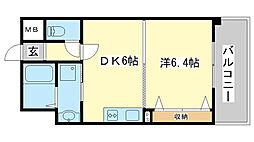 三共ヒルズ[302号室]の間取り