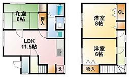 [一戸建] 千葉県大網白里市大網 の賃貸【/】の間取り