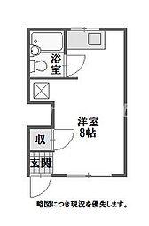 徳島県徳島市助任橋3丁目の賃貸マンションの間取り
