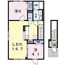 クリスタルピークI[2階]の間取り
