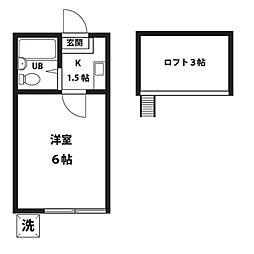 YKマンション[202号室]の間取り