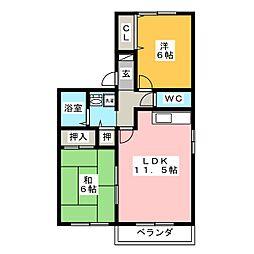 フォレスタ松永 B棟[2階]の間取り
