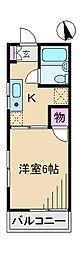 東京都北区十条仲原4丁目の賃貸アパートの間取り