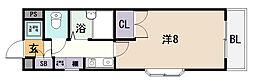 小阪パームコート[2階]の間取り