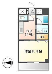 グランディール163[6階]の間取り