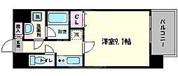 レオンコンフォート難波サウスゲート 7階1Kの間取り