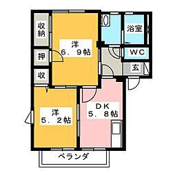 アイビースクエア[2階]の間取り