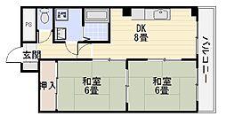 マイネハイマート深井[206号室]の間取り