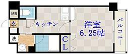ジュネス関目高殿[6階]の間取り