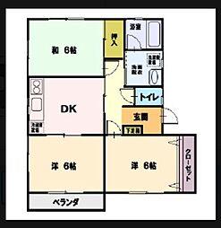 グリーンハイツ湘南[2階]の間取り
