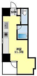 名鉄豊田線 浄水駅 徒歩7分の賃貸マンション 3階ワンルームの間取り