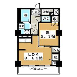 レジデンスカープ札幌[20階]の間取り